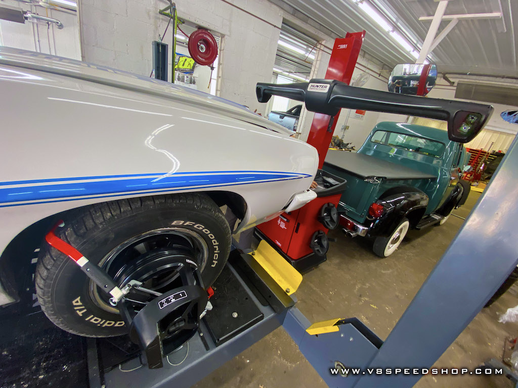 Setting Classics and Muscle Cars Straight with Precise Wheel Alignment at the V8 Speed and Resto Shop